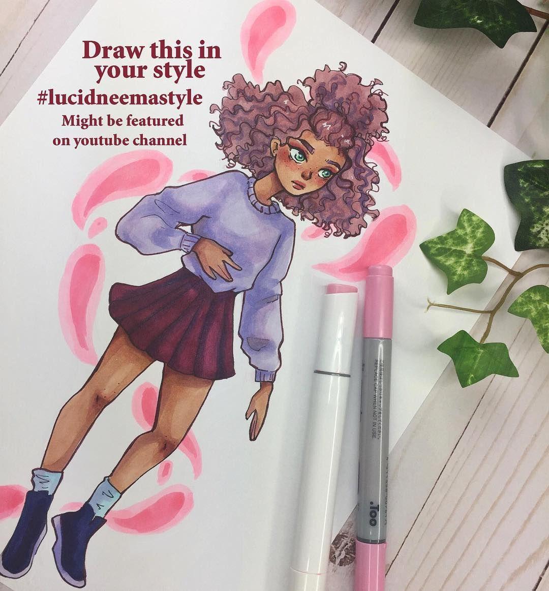 lucid Neema sur Instagram: «#drawthisinyourstyle Je présenterai votre dessin sur ma chaîne YouTube si vous utilisez le #lucidneemastyle. N'hésitez pas à changer de dessin… »