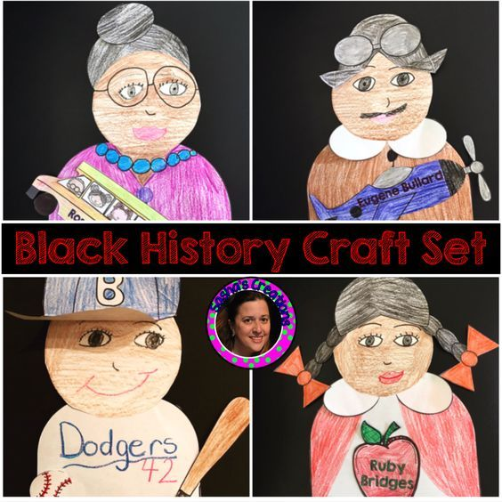 Black History Crafts for Rosa Parks,Jackie Robinson,Ruby Bridges ...
