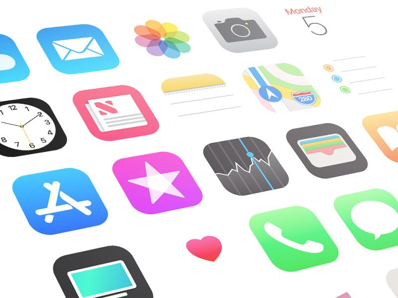 iOS 11 App Icons - Free sketch resource for download