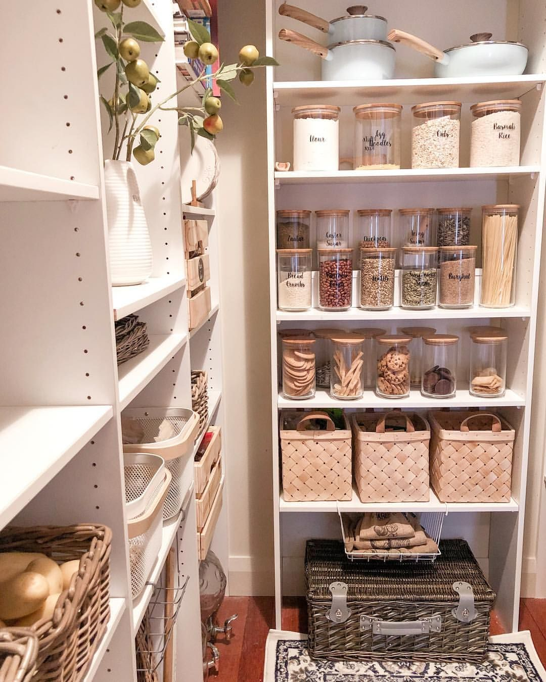 𝙿𝚊𝚗𝚝𝚛𝚢 𝙾𝚛𝚐𝚊𝚗𝚒𝚣𝚒𝚗𝚐 Our Pantry Is Undergoing A Few Littl Ikea Kitchen Pantry Small Pantry Organization Ikea Kitchen