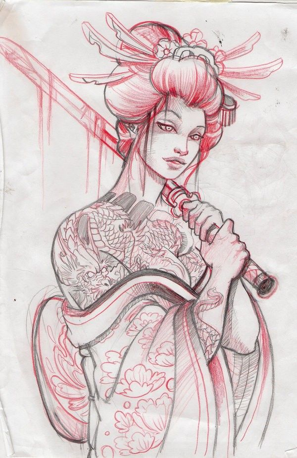 52 Japanese Geisha Tattoo Designs And Drawings With Images Tat