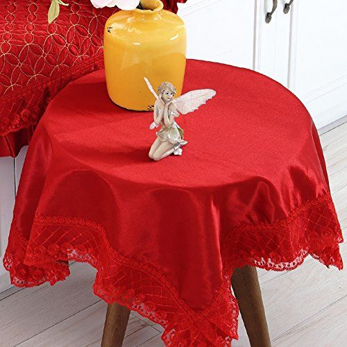 Big Red Cloth,Table Cloth Chair Chair Cushion Set,Tablecloth Round Coffee  Table Pad