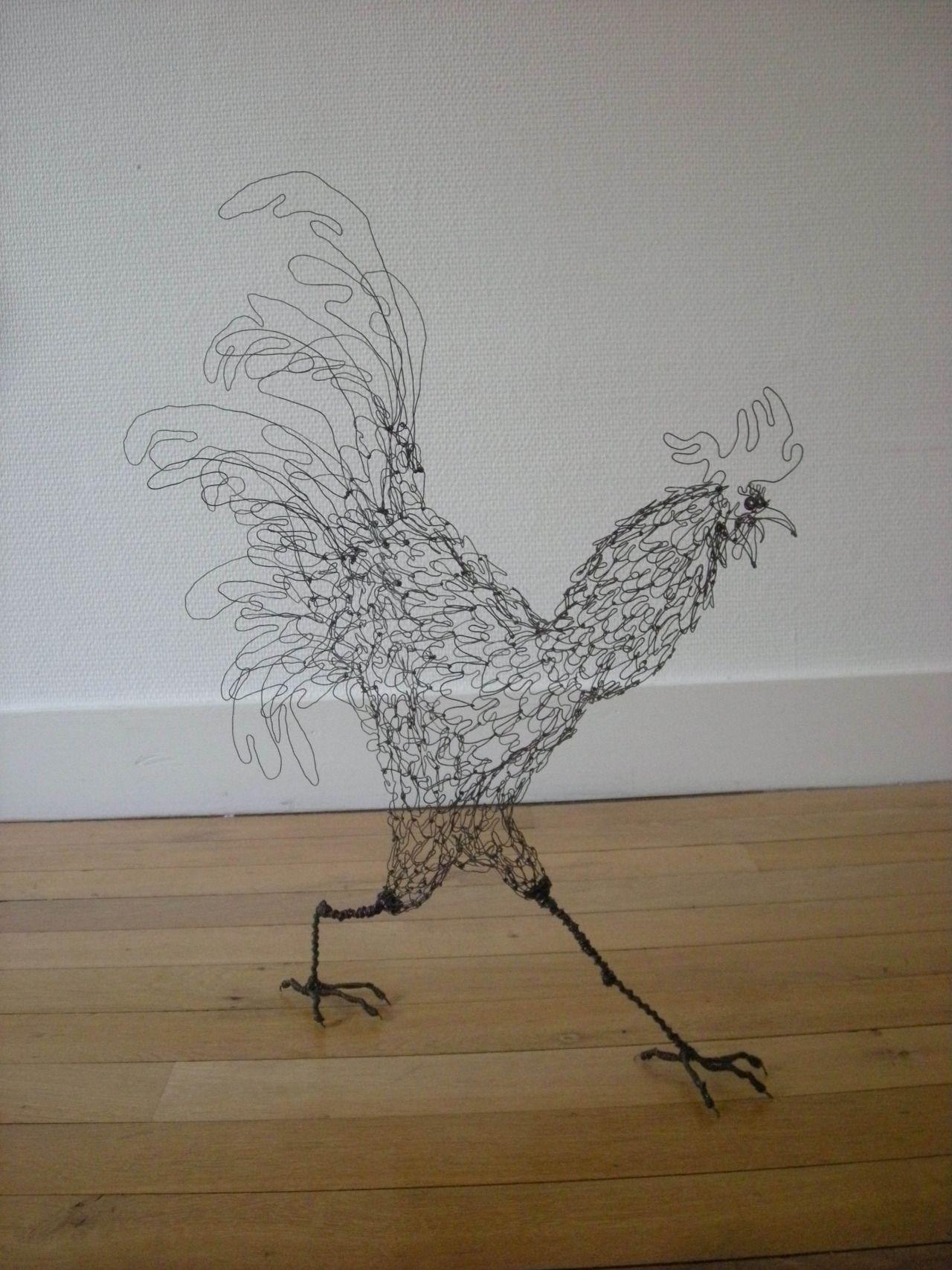 les sculptures de fils de fer de mickael delalande 2tout2rien art installations pinterest