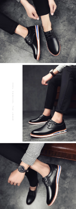 British Oxford Business Casual Leather