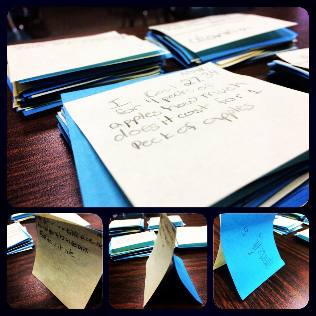 Middle School Math Unit Rate Review Activity My 6th Grade