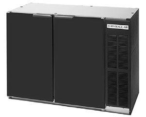 "Beverage Air (Bev Air) BB48Y-1-B 48"" Back Bar Refrigerator with 2 Solid Doors 115V"