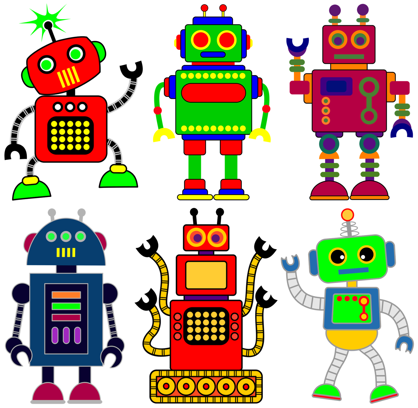 robot clipart for your project or classroom free png files that rh pinterest com au