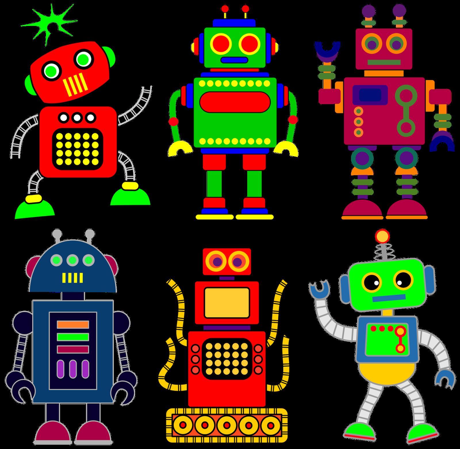 free robot clip art for classrooms teachers and parents  [ 1600 x 1561 Pixel ]