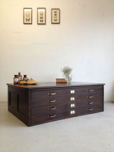 Superb vintage industrial architect 4 drawer plan chest cabinet superb vintage industrial architect 4 drawer plan chest cabinet coffee table ebay malvernweather Image collections