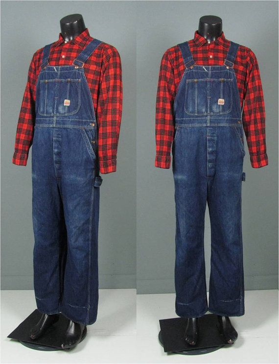 men s vintage denim overalls vintage mens 1950s workwear on best insulated coveralls for men id=37356