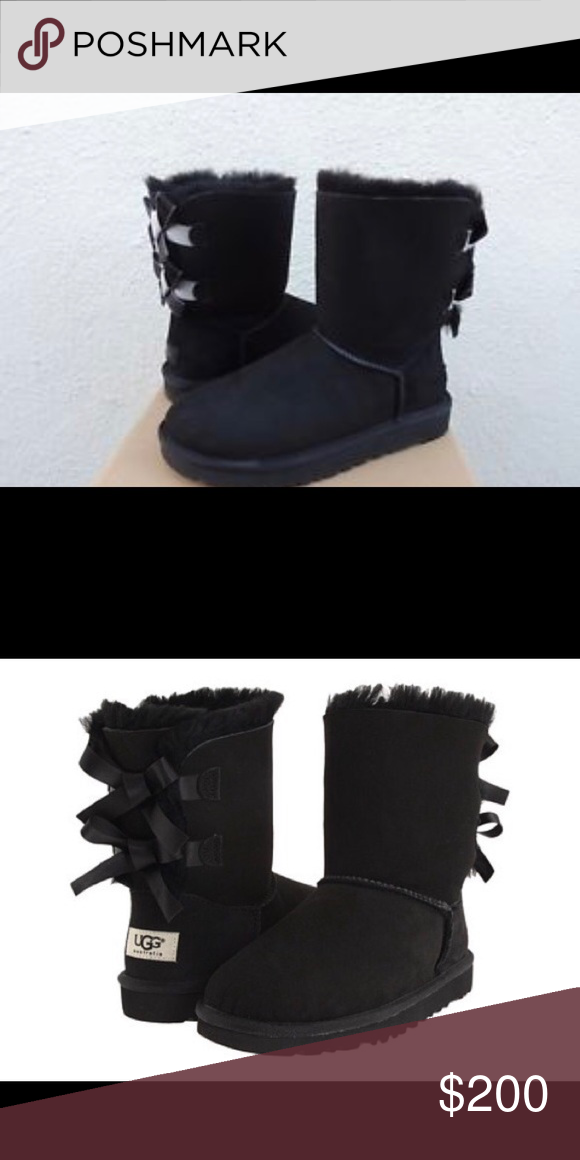 4f326fd7c6c Ugg Bailey Bows Size 5 Black New Size 5 bailey bow uggs UGG Shoes ...