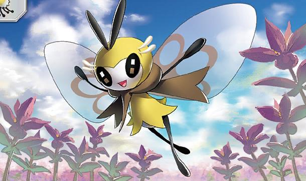 Illus Shin Nagasawa Ribombee From Sun Moon Fairy Type Pokemon Cute Pokemon Wallpaper All Gen 7 Pokemon