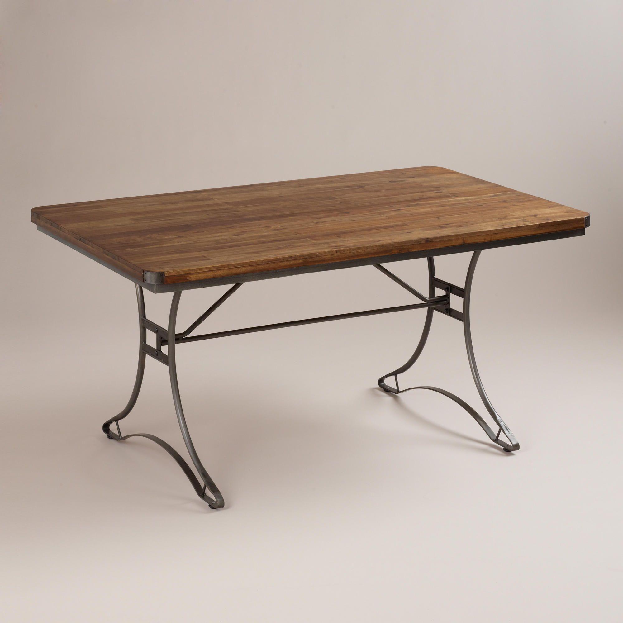 jackson rectangular table with metal base | metals, vintage