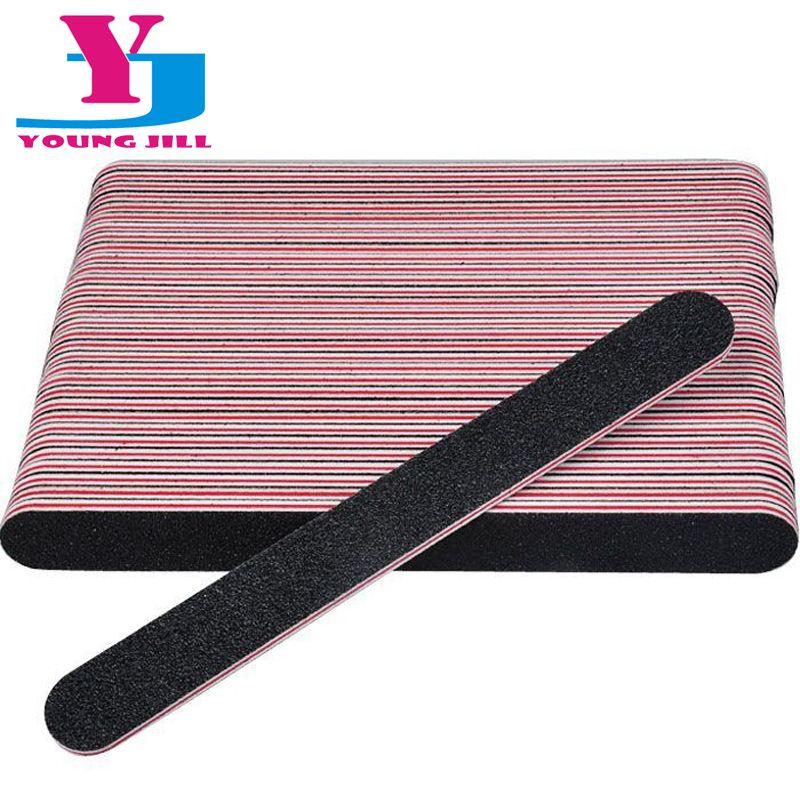50Pcs/Lot Wholesale Nail File 100/180 Professional Sanding Salon ...