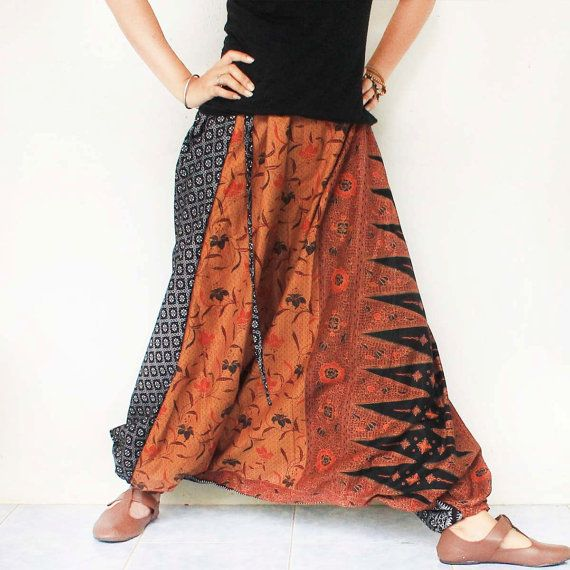 brown and black Thai batik 2 tone  Hand made by meatballtheory, $25.00