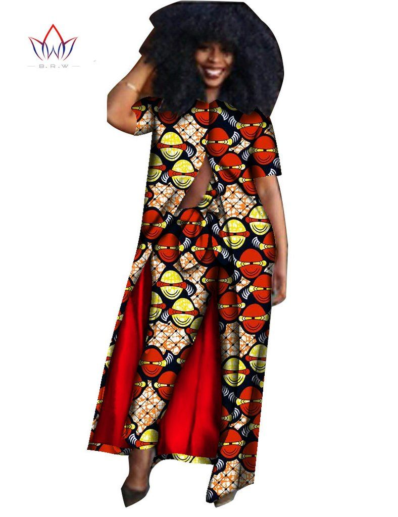 Summer 2 Piece African Clothing Dashiki Pant and Top African Print Clothing  Bazin Plus Size 6xl African Outfits WY610 49bc09258eac