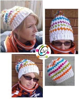 Free Pattern: Jelly Bean Slouch Hat | Mütze, Handschuhe häkeln und ...