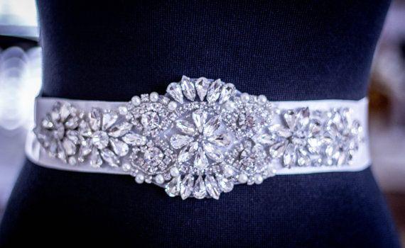 Sale - Wedding Sash, Wedding Belt, Bridal Belt, Bridesmaid Belt, Wedding Sash, Bridal Sash, Belt, Rhinestone Sash, Ribbon Sash