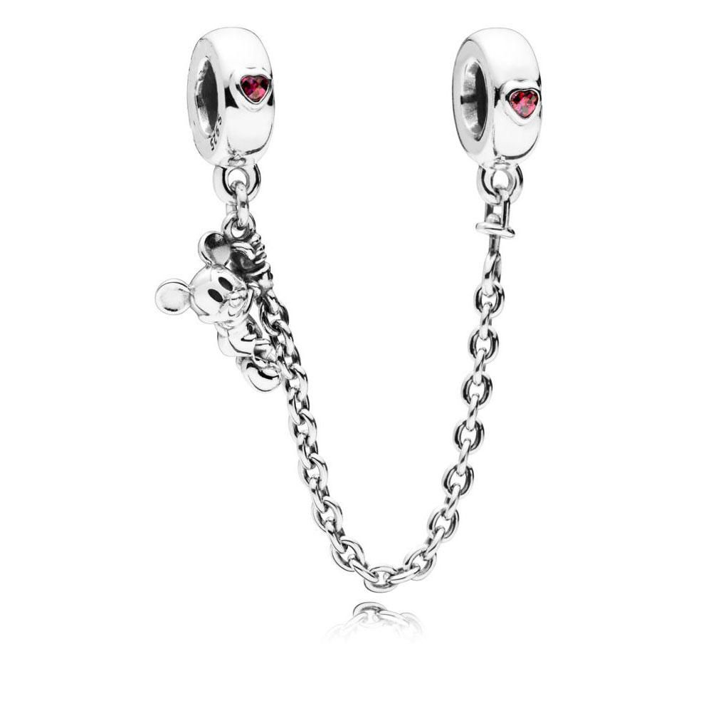 spring new silver climbing mickey safety chain charm