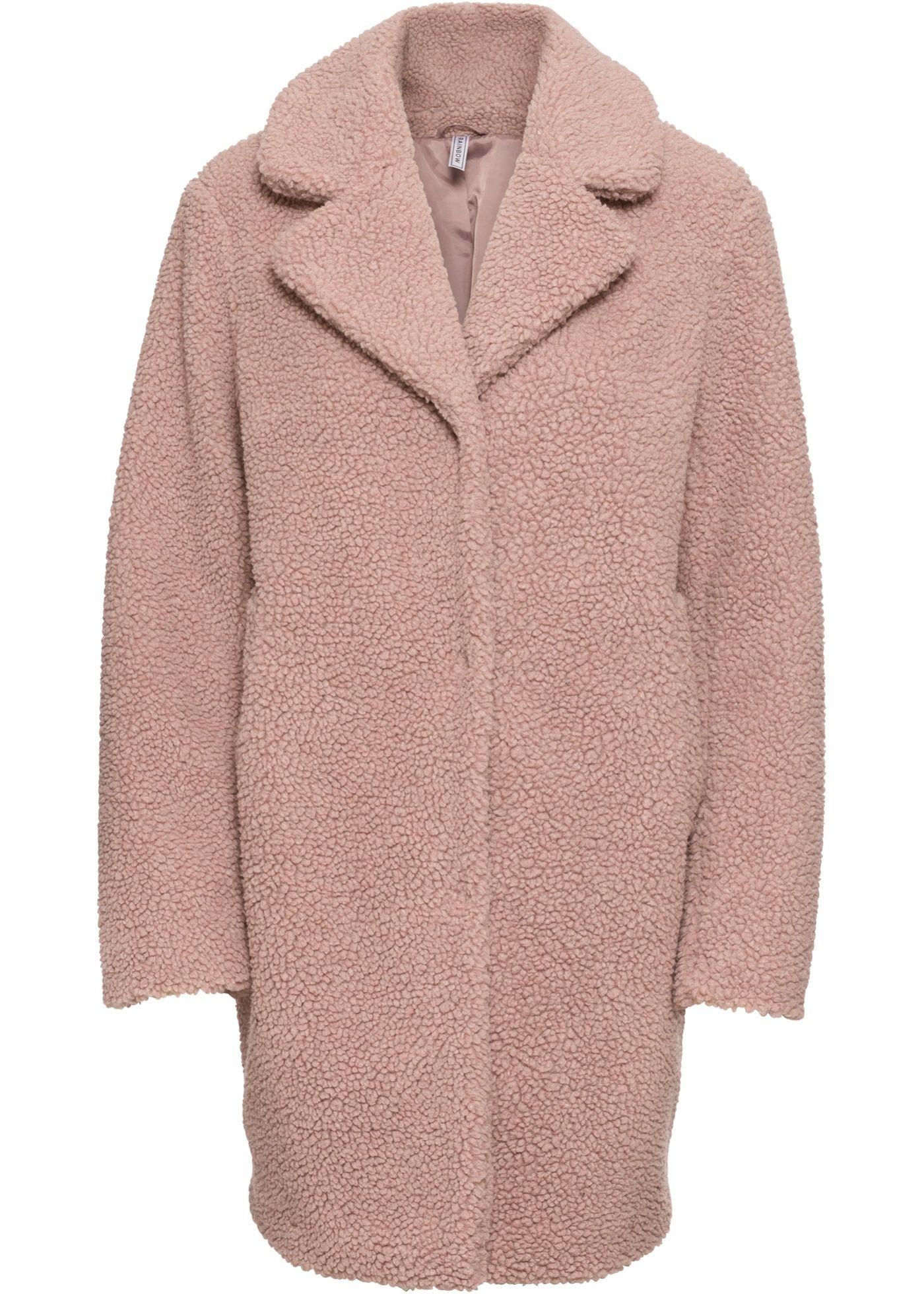 Teddyfell Kurzmantel Mantel Mantel Damen Und Outfit