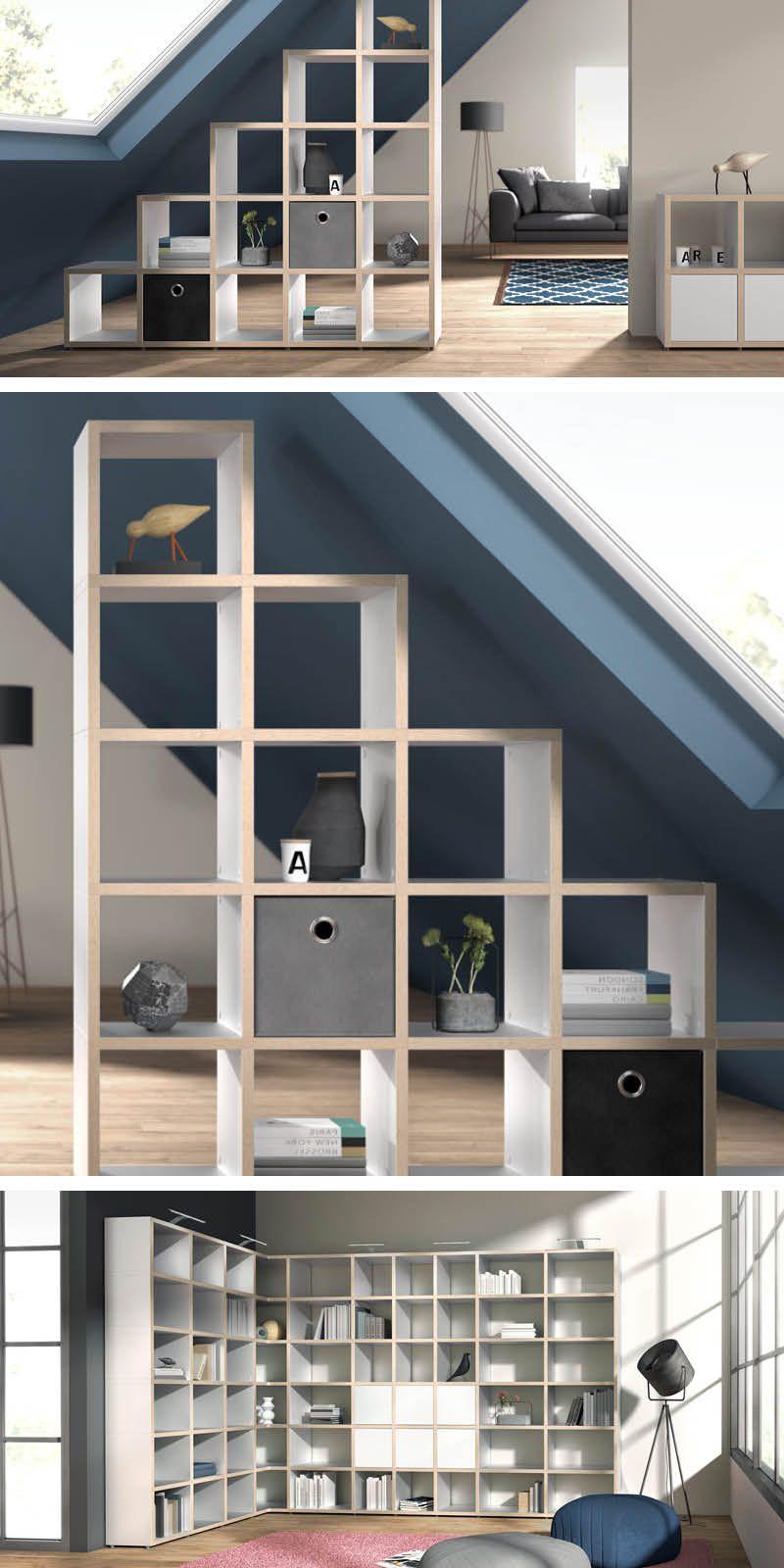 Wohnzimmer Regal weiß/eiche | Regalsysteme | Pinterest