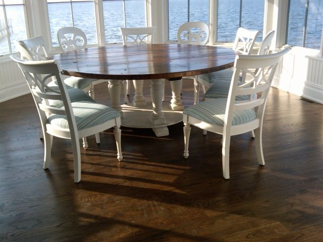 At Home By The Sea   Reclaimed Barn Wood Furniture, Handmade In Lancaster  County, PA. Barn Flooring Is Used For The Tabletops And Barn Beams And  Rafters For ...