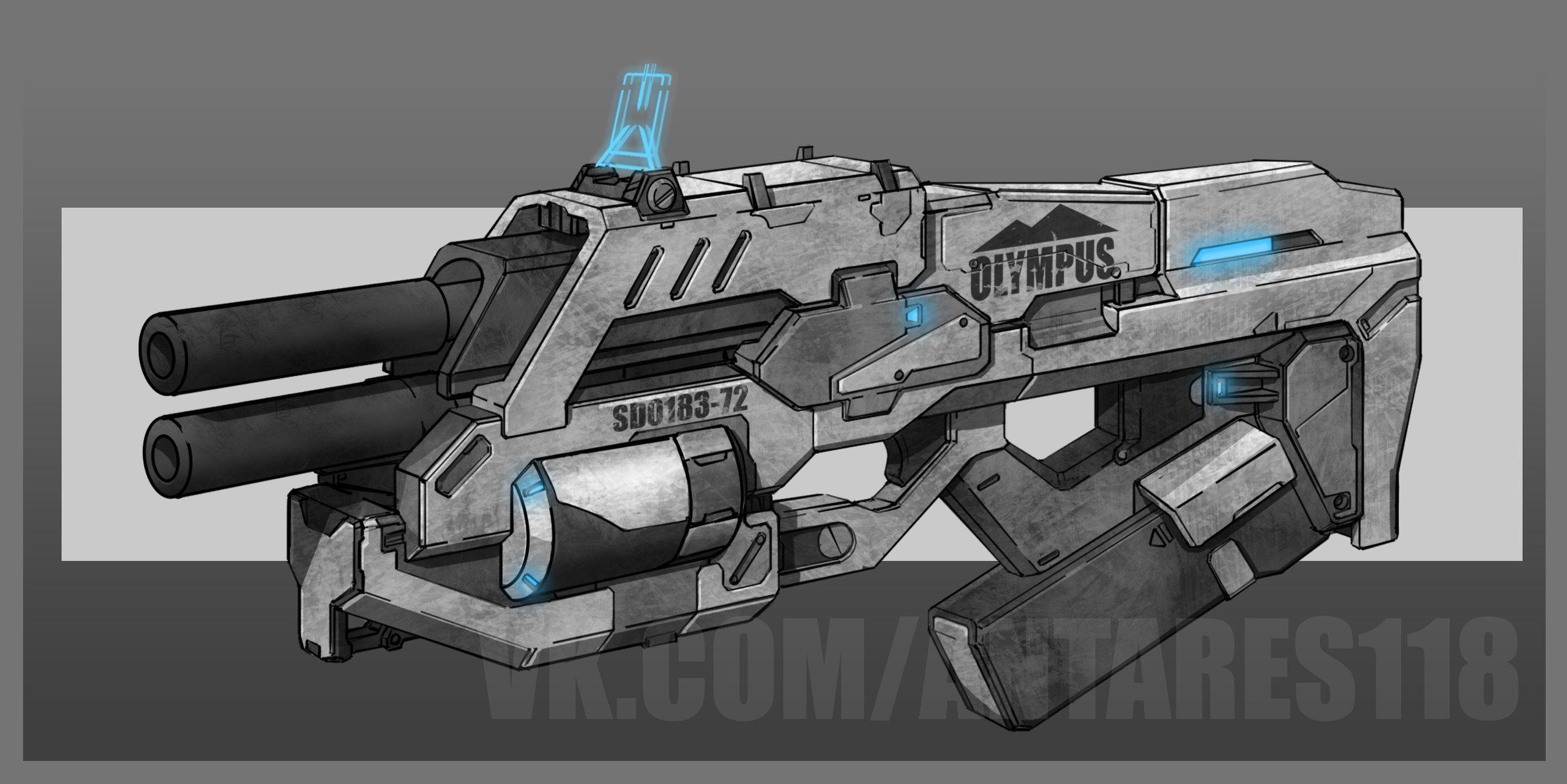 concept weapon gun plasma futuristic scifi power