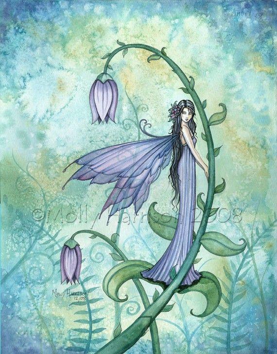 Fairy Fine Art Fantasy Print by Molly Harrison by MollyHarrisonArt, $30.00