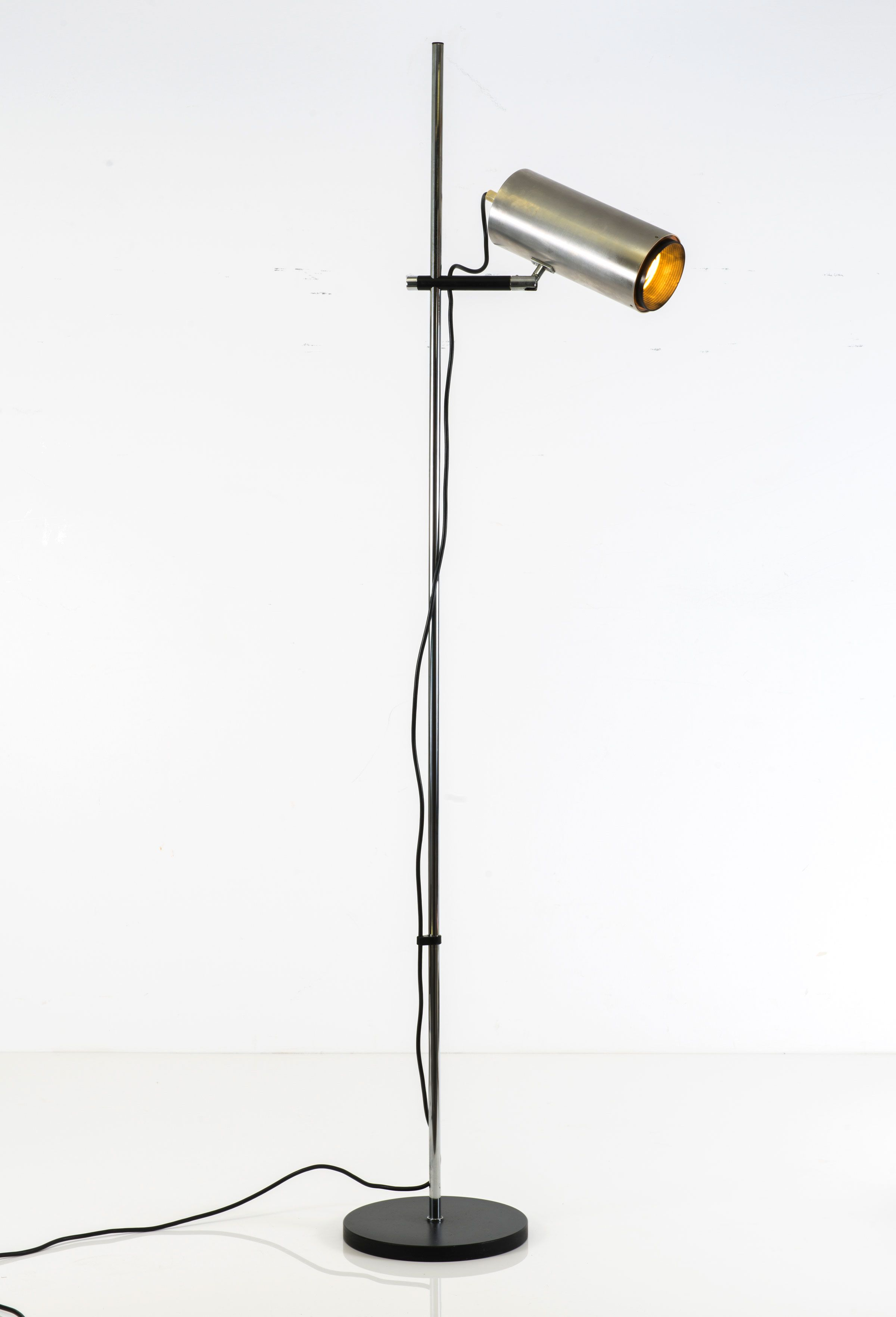 Maria pergay aluminum chromed and enameled steel floor lamp c1968 maria pergay aluminum chromed and enameled steel floor lamp c1968 aloadofball Image collections