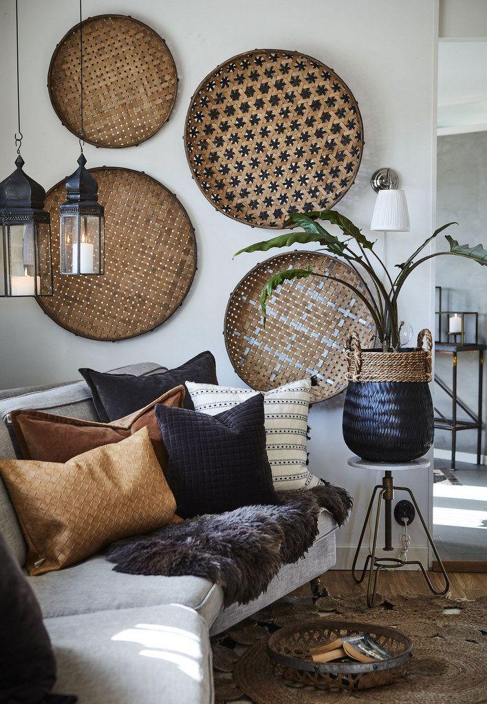 Des idées pour mettre des paniers ronds au mur - Joli Place #homedeco