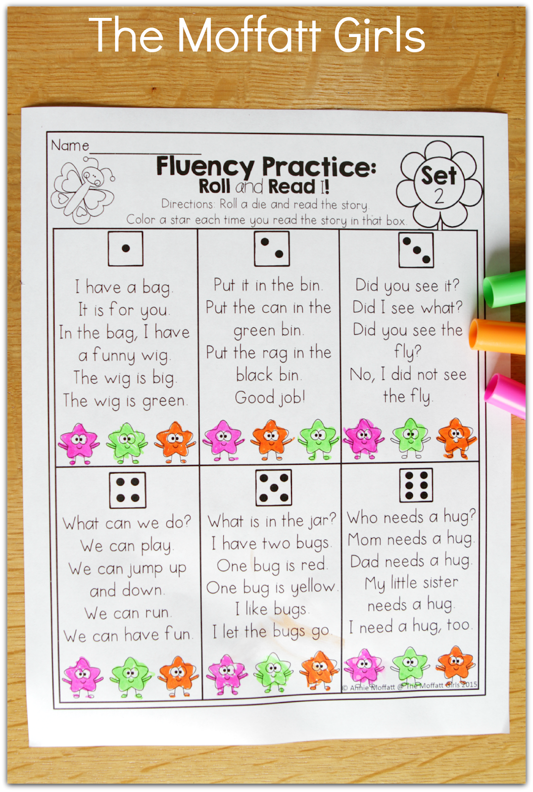 Fluency Practice Roll A Read A Simple Story And