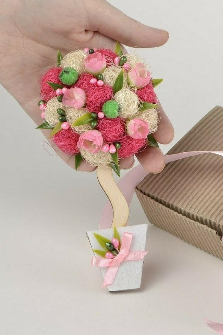 Rose Fridge Magnet Pink White 21st Birthday Gift Ideas For Her Unusual Women Sister Flower Decor