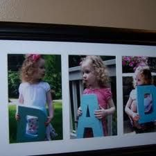 First fathers day gift idea.. I could get baby Joe to hold letters. ;) That could be cute!