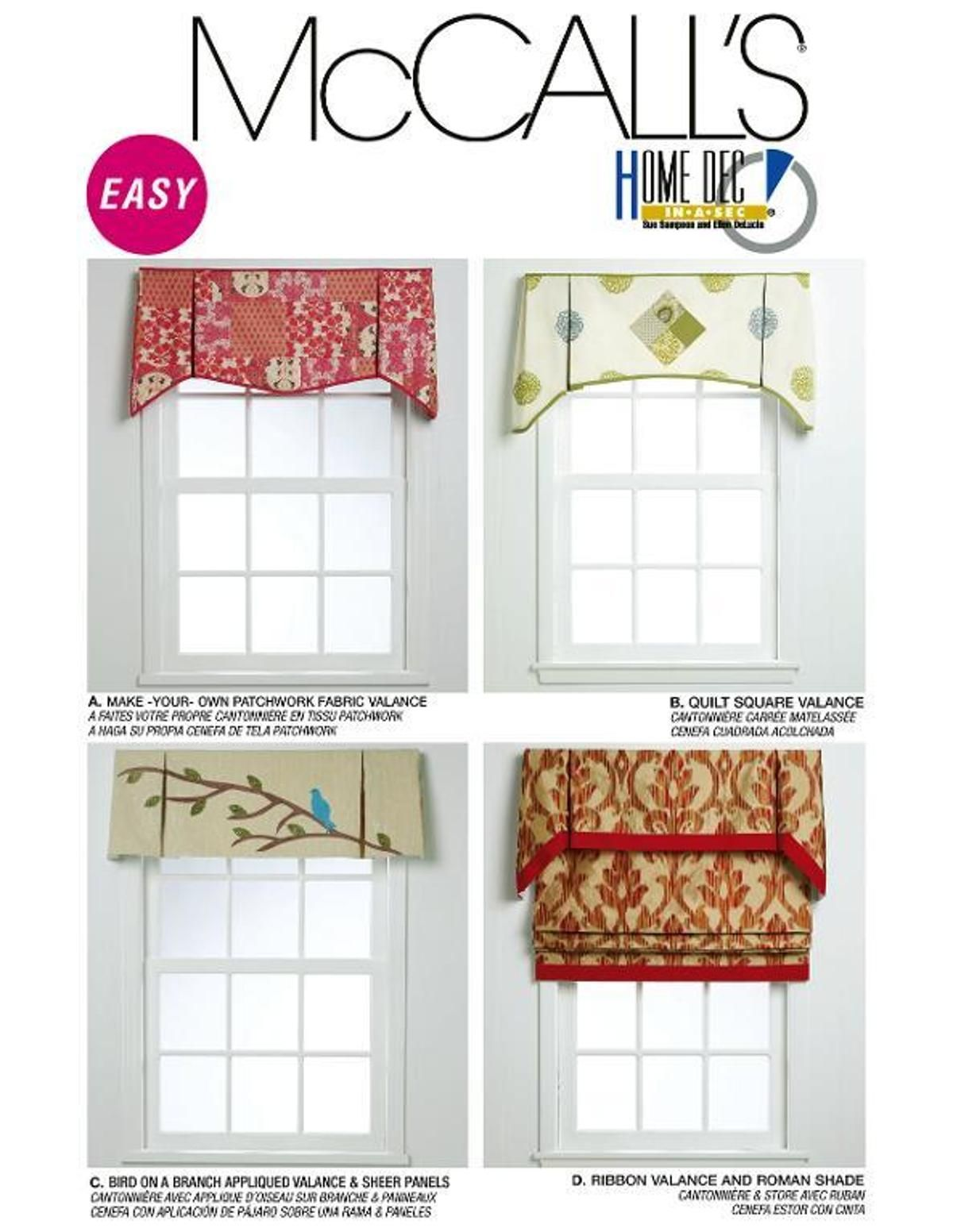 Mccall S Window Valances Pattern 6299 Bluprint Valance Patterns Curtain Patterns Valance