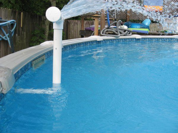 Shower Aerator for your Swimming Pool. Helps keep the water ...