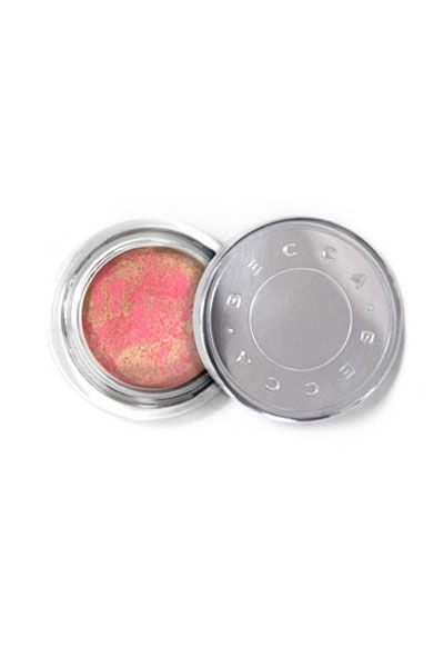 This whipped mousse combines bright pink blush with a touch of gold. Swirl both together with a blush brush, then dab over cheeks for sunny warmth.  Becca Beach Tint Shimmer Souffle in Lychee/Opal, $27.   - Redbook.com