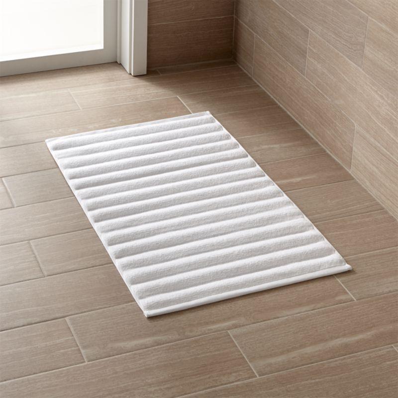White Bath Mat