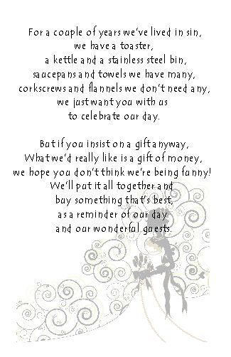 Wedding Money Poem Cards Various Design Available Perfect For Slipping Into The Envelope With