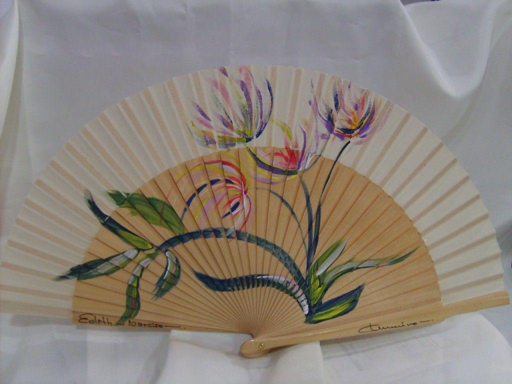 Abanicos pintados carmen merino abanicos pinterest - Como pintar abanicos ...