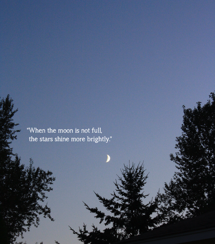 Moon Sliver Sky Quotes Moon Quotes Stars And Moon