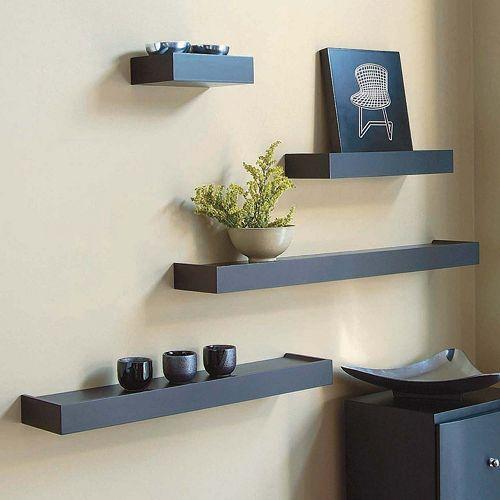 Nexxt Vertigo Wall Shelf 4 Piece Set Ikea Wall Shelves Black