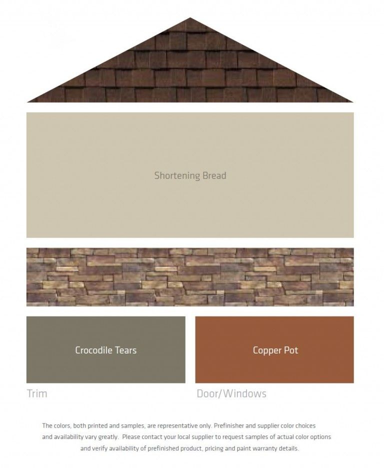 Fresh Color Palettes For A Brown Roof Exterior House Paint Color