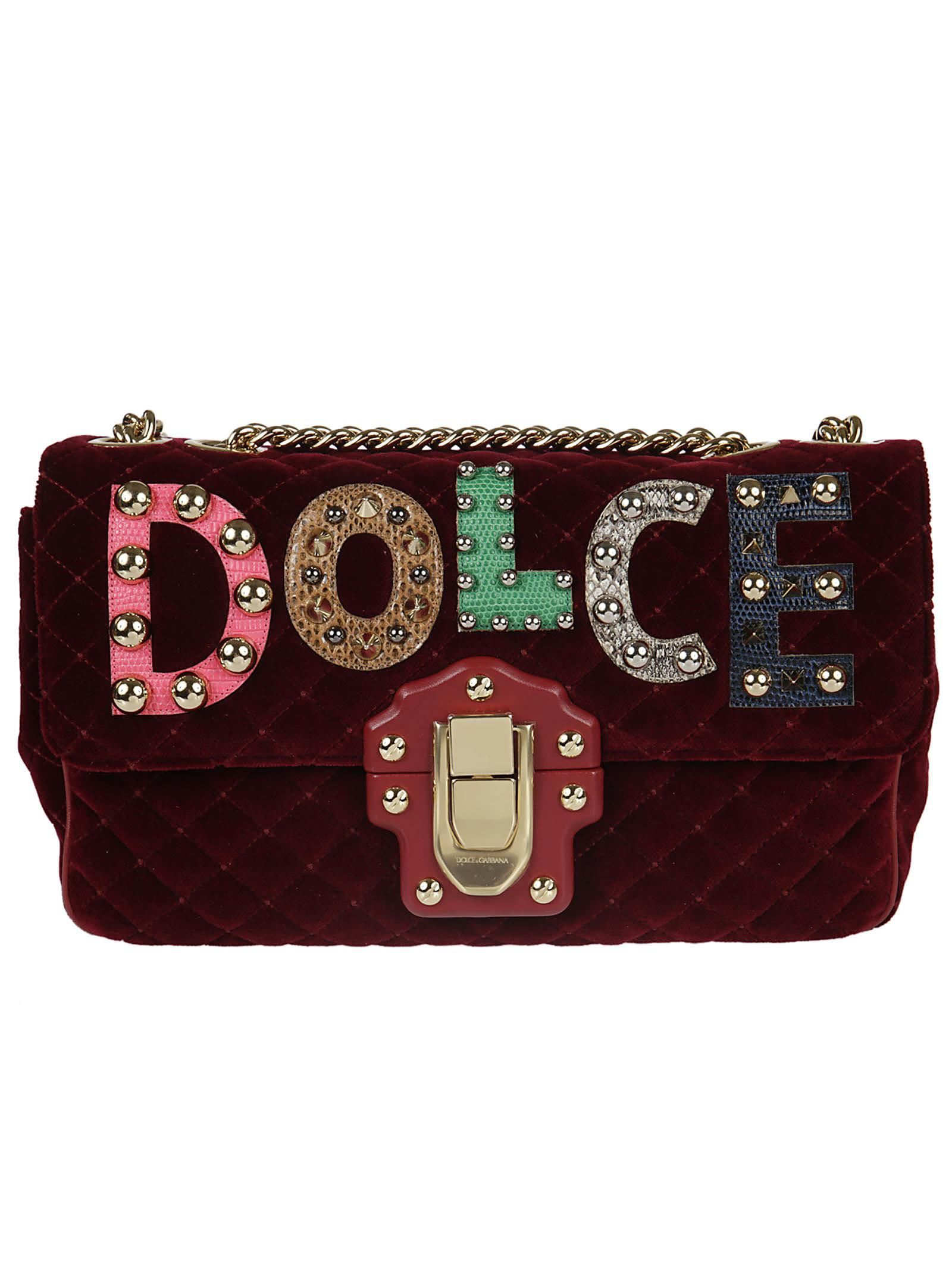 28b0d2ba56 DOLCE   GABBANA DOLCE   GABBANA LUCIA QUILTED SHOULDER BAG.  dolcegabbana   bags  shoulder bags  leather  cotton