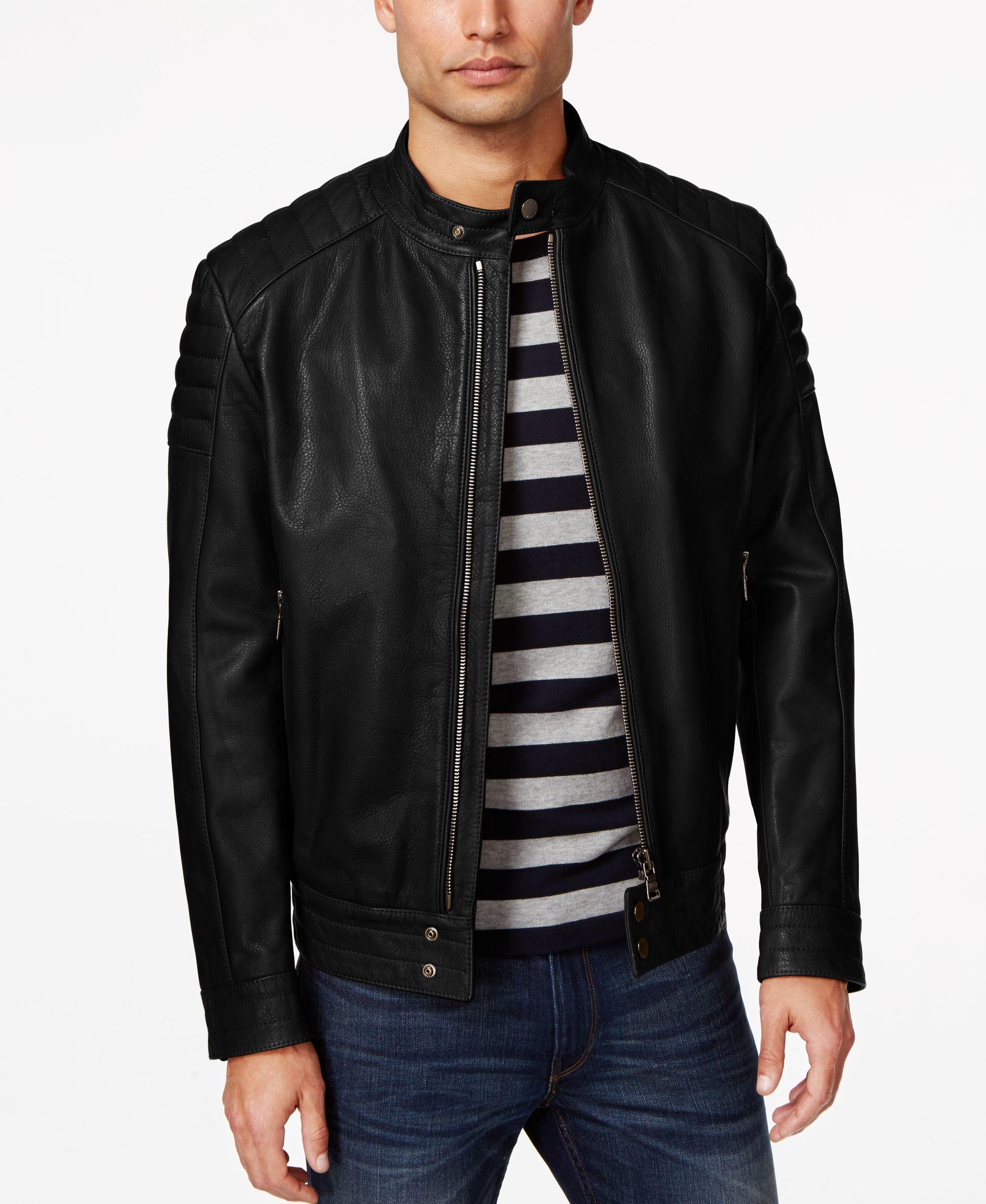 Hugo Boss Black Nupitz Leather Jacket   Leather jacket ...