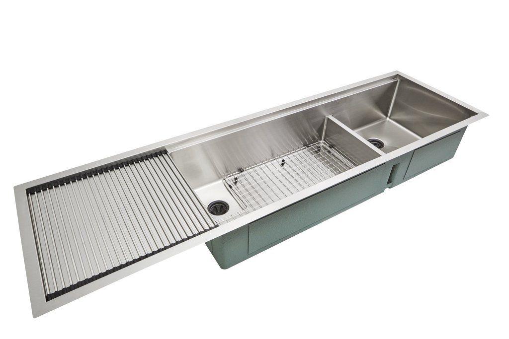 1 2 Radius 68 Ledge Double Bowl Drainboard Sink 5lpd17 30l Ledge Sink Sink