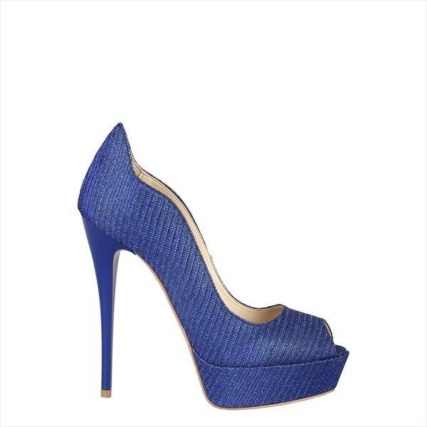 Versace 1969 srl Milano Italia -Coleccion primavera verano - Zapatos de mujer  azules 100 3209825634d1