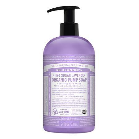Dr Bronner S 4 In 1 Sugar Baby Organic Pump Soap Lavender 24 Fl