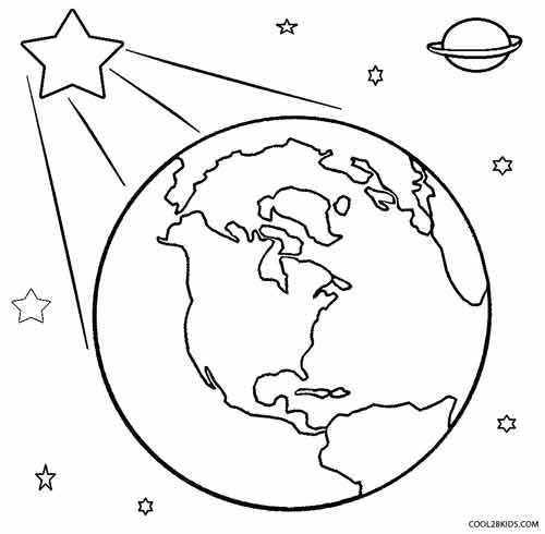 Earth Coloring Page Printable Earth Coloring Pages Coloring Pages Space Coloring Pages