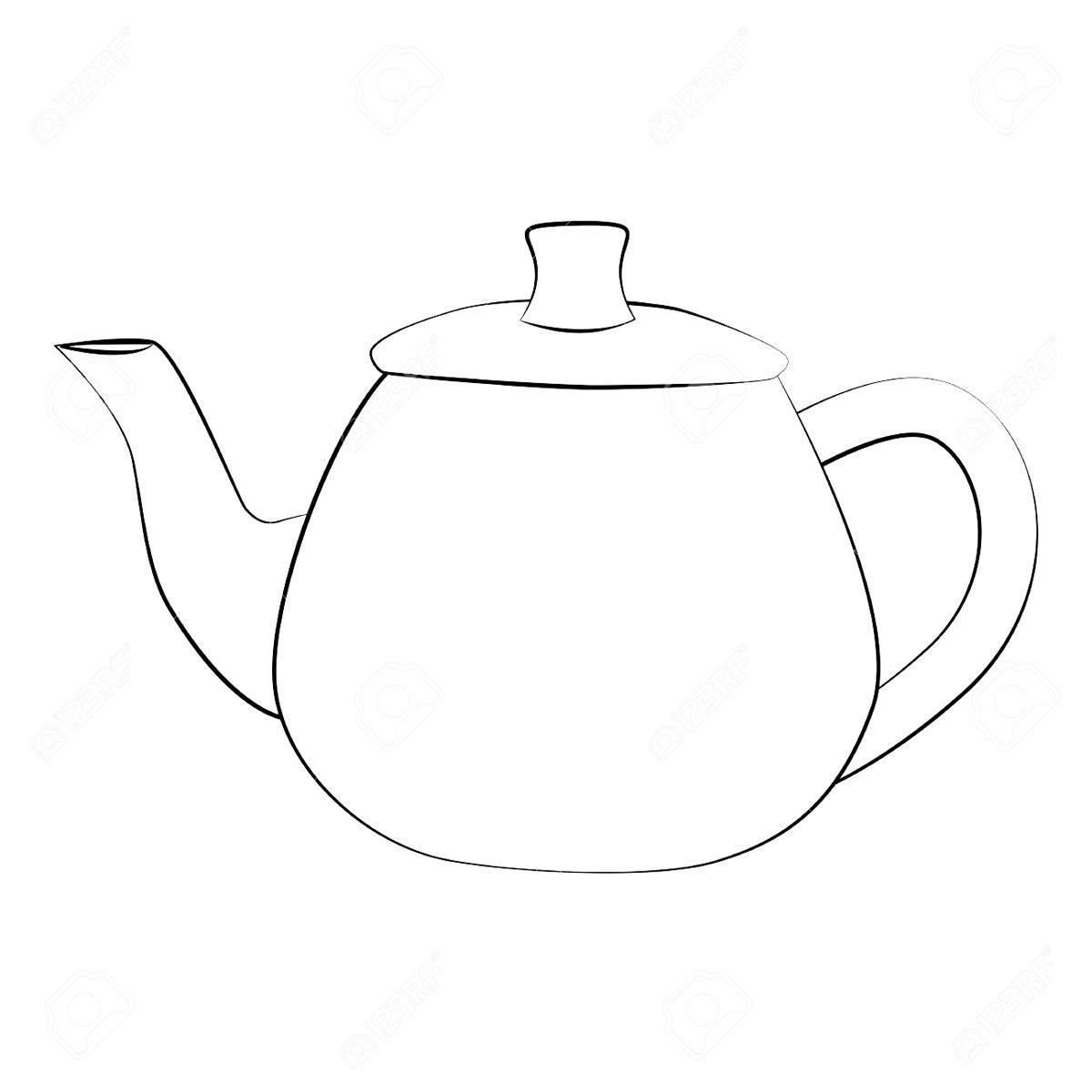 раскраска чайник для детей Zaikinmir Ru Moldes Dibujo