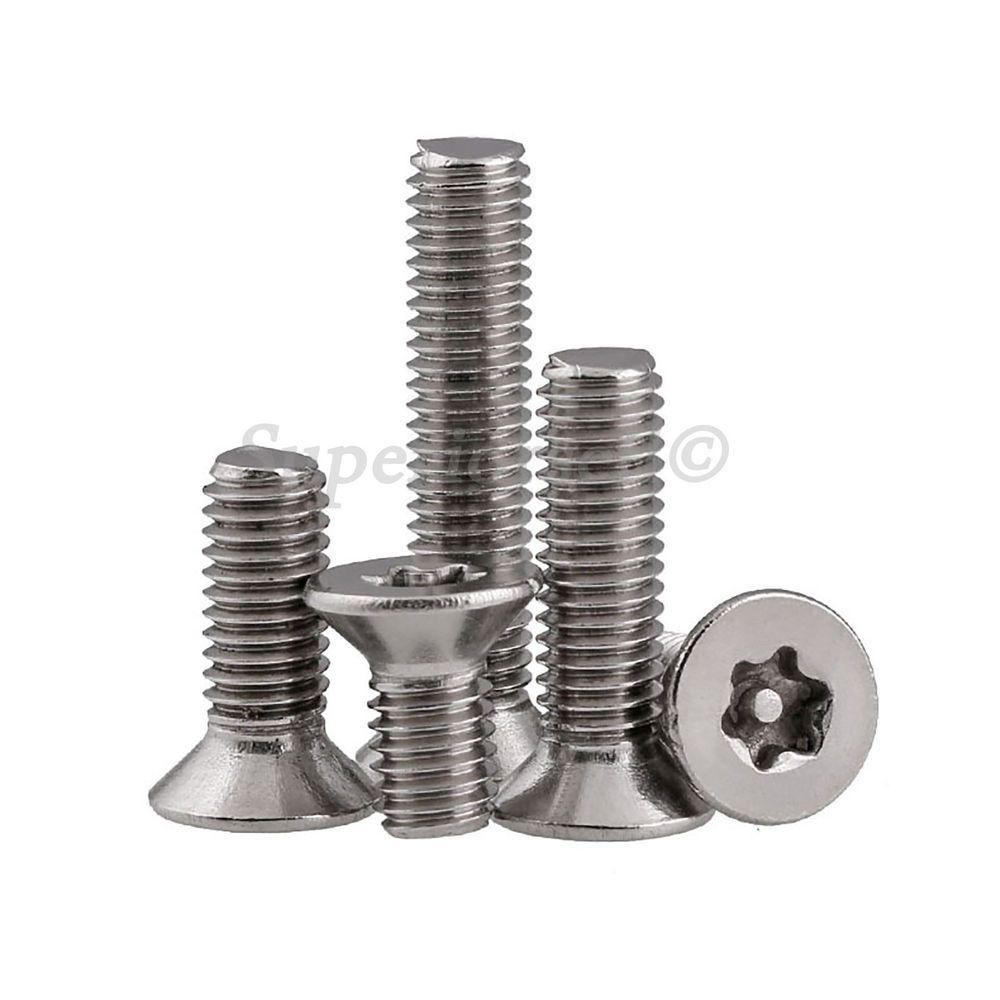 M3 M4 M5 M6 Flat Head Torx Pin Security Machine Screws A2 304 Stainless Steel Flat Head Steel Stainless Steel